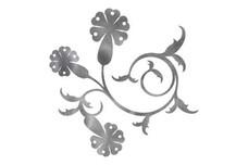 Flowers on Swirling_Stem DXF File