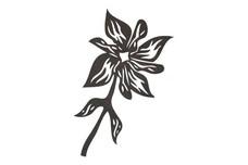 Stylized Flower Design DXF File