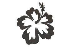 Curvy Hibiscus DXF File