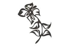 Stylized Flower-N-Leaves DXF File
