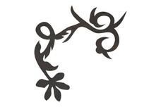 Looping-Vine Flower DXF File