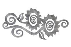 Two Flowers DXF File