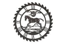 Foal Sawblade Clock