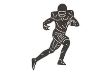 Football Player Sprinting DXF File