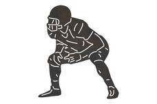 Anticipating Football Player DXF File