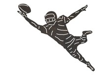 Leaping Football Player DXF File