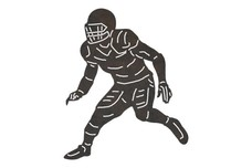 Ready Football Player DXF File