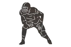 Football Player Getting Ready DXF File