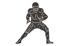 Football Player DXF File