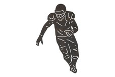 Running Football Player DXF File
