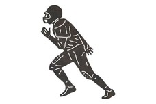 Football Player Running DXF File