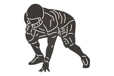 Football - Hunched Position DXF File