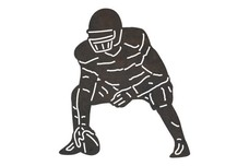 Center Football Player DXF File