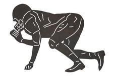 Readying Football Player DXF File