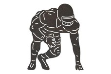 Football Player Readying DXF File