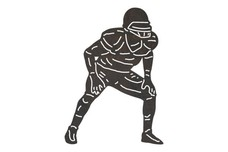 Upright Football Player DXF File