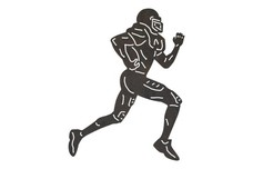 Sprinting Football Player DXF File