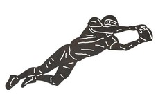 Diving Football Player DXF File