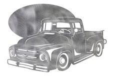Ford 100 Truck Sign Template