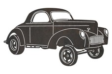 Vintage Ford Coupe Hot Rod DXF File
