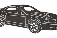 Ford Mustang Front-view DXF File