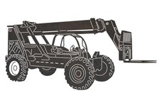 Telescopic Forklift DXF File