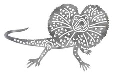 Frill Necked Lizard Silhouette DXF File
