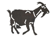 Goat Side-View DXF File