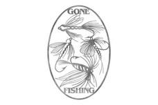 Gone Fishing Oval