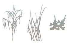 Grass Scenes DXF File