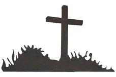 Cross-shaped Gravestone DXF File