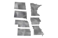 Cutouts of Great Plains States DXF File
