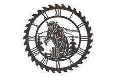 Grizzly Sawblade Clock