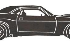 1970 Dodge Challenger DXF Stock Art
