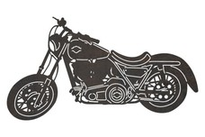Harley Motorcycle Side-View DXF File