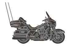 Harley-Davidson Touring Motorcycle DXF File
