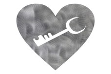 Heart & Key DXF File