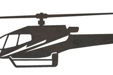 Helicopter Side Profile DXF File