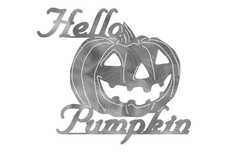 Hello Pumpkin Wall Art