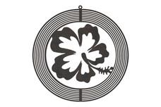 Hibiscus Wind Spinner