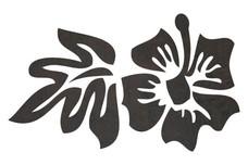 Hibiscus W/Leaf DXF File