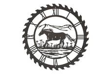 Horse Sawblade Clock