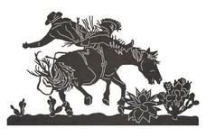 Bucking Horse DXF File