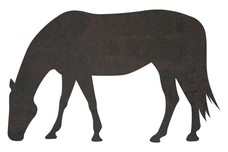 Grazing Horse DXF File