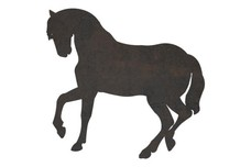Side-Silhouette Horse DXF File