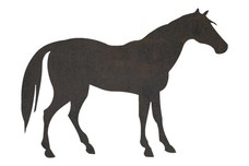 Horse Side Contour DXF File
