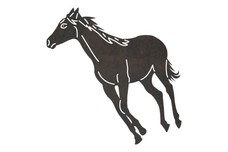 Angled Galloping Horse DXF File