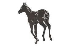Back Turned Horse DXF File