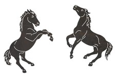 Playing Horses DXF File