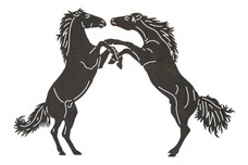 Fighting Horses DXF File